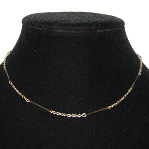 Vintage gold chain necklace 15""